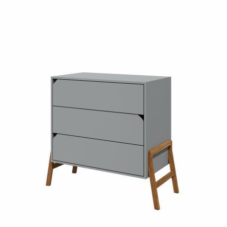 Komoda 3-szuflady Lotta Gray Bellamy - 4kidspoint.pl